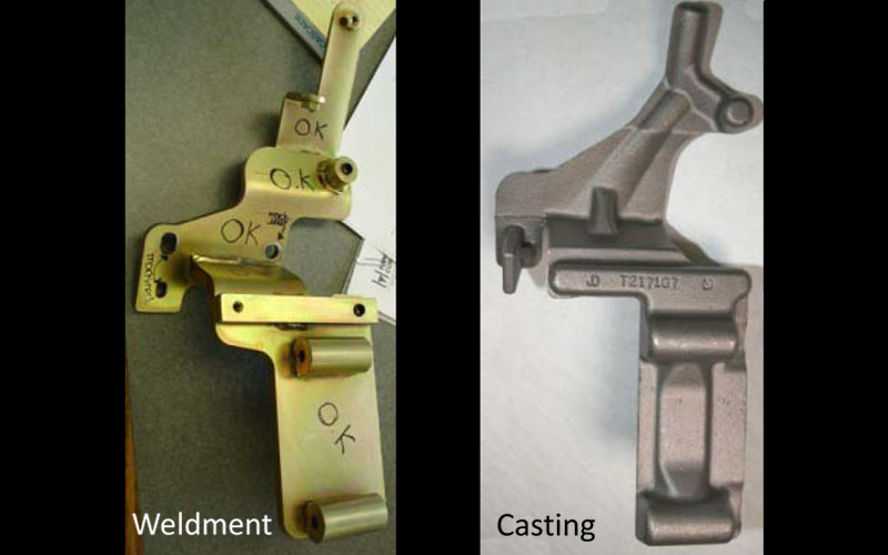convert welding into investment casting