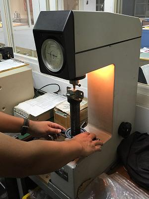 hardness testing of investment castings