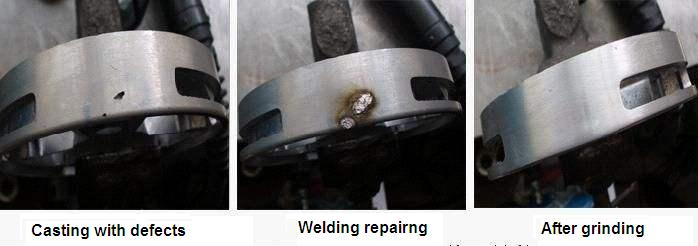 investment casting after welding repairing